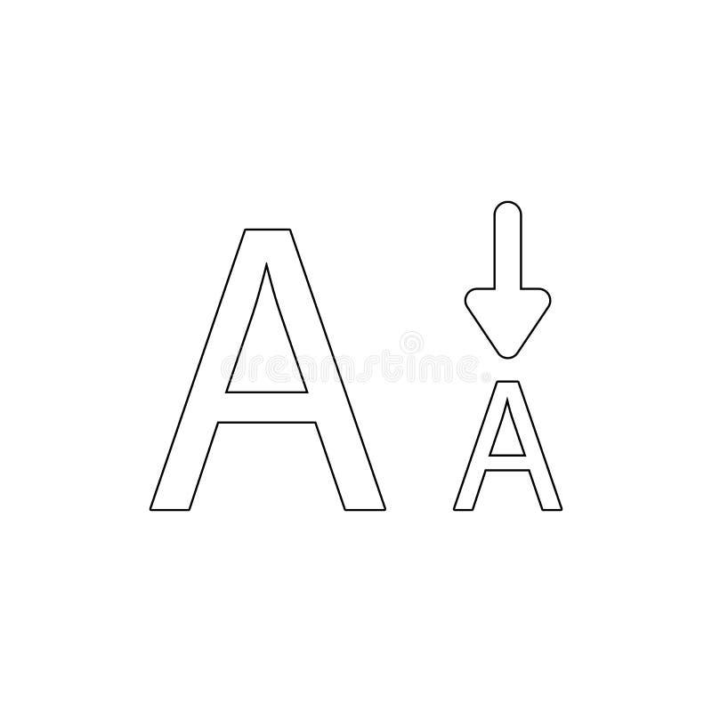 字体信件大小更小的类型概述象 E 皇族释放例证