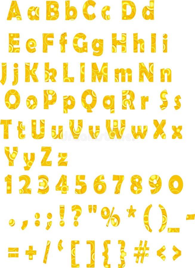 字体汁液桔子 向量例证