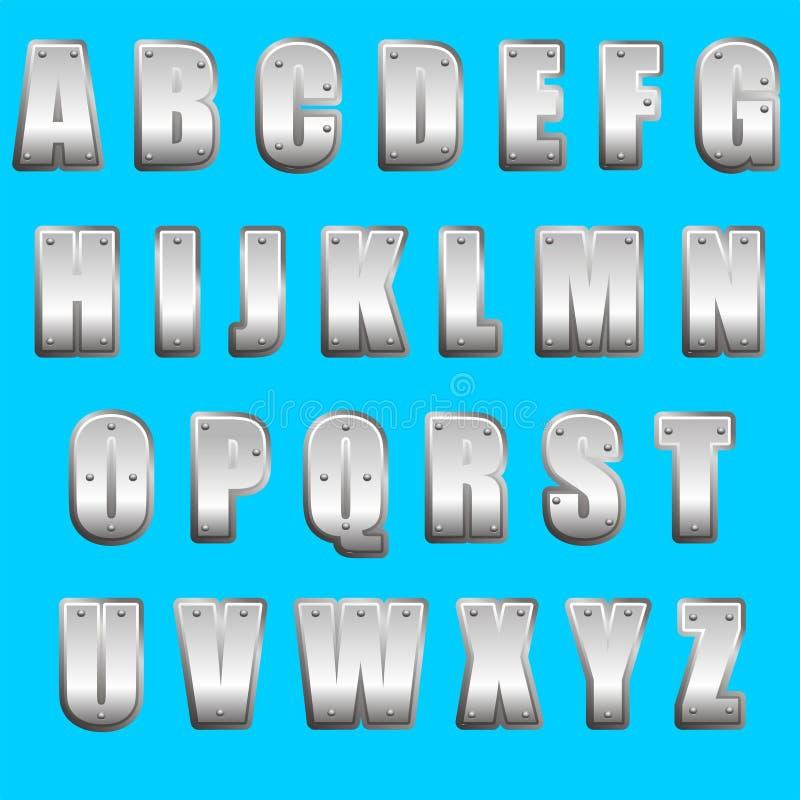 字体金属类型 皇族释放例证