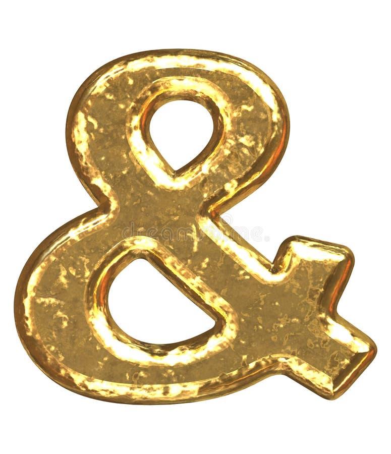 字体金黄符号 向量例证