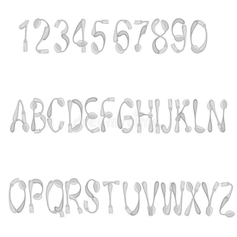 字体 向量例证