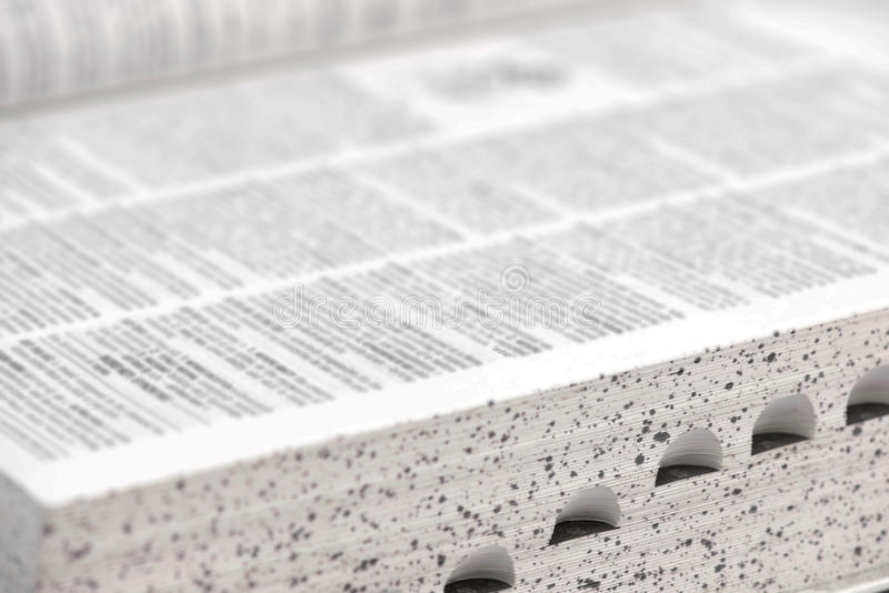 字典宏指令关闭 免版税库存图片