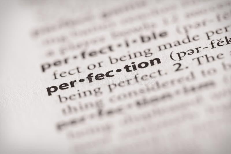 字典系列-属性:完美 免版税库存图片