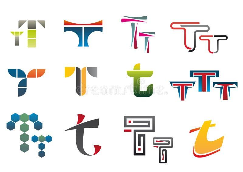 字母符号t 向量例证