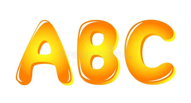 字母表上色信函星期日 库存例证