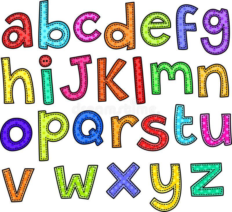 字母表乱画文本 向量例证