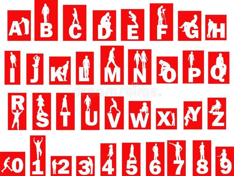 字母表人 向量例证