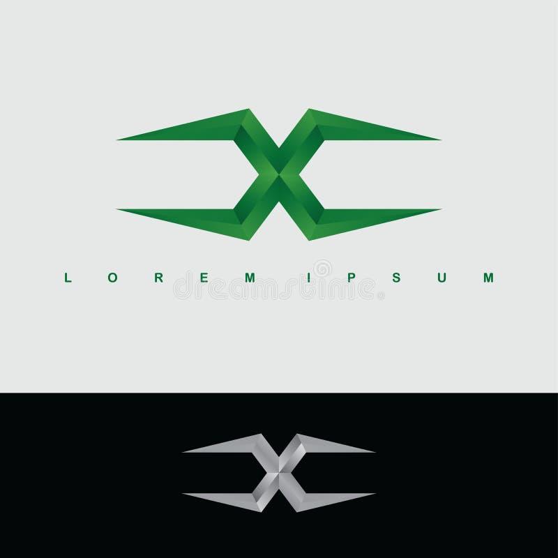 字母表信件x商标略写法金属钢模板 皇族释放例证