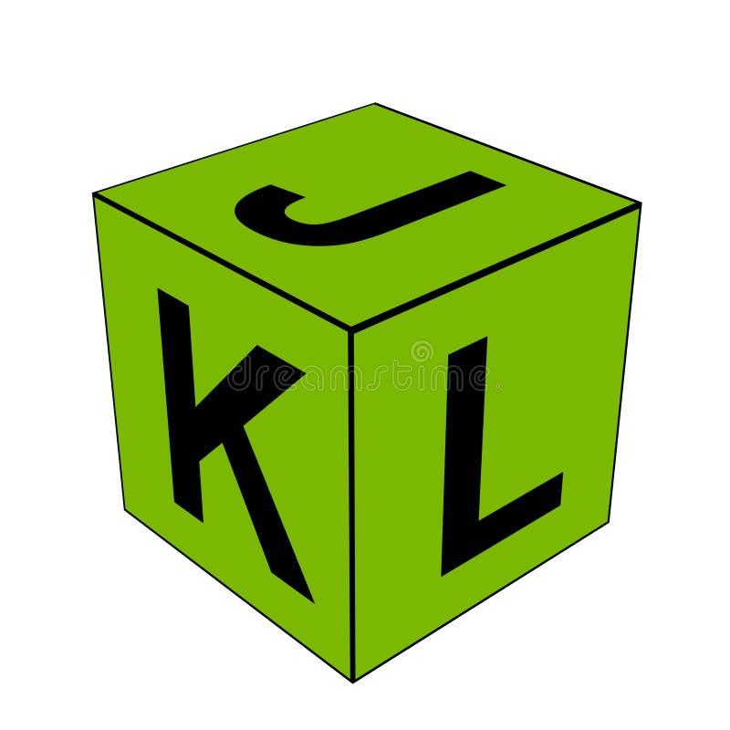 字母表信件JKL模子 库存照片