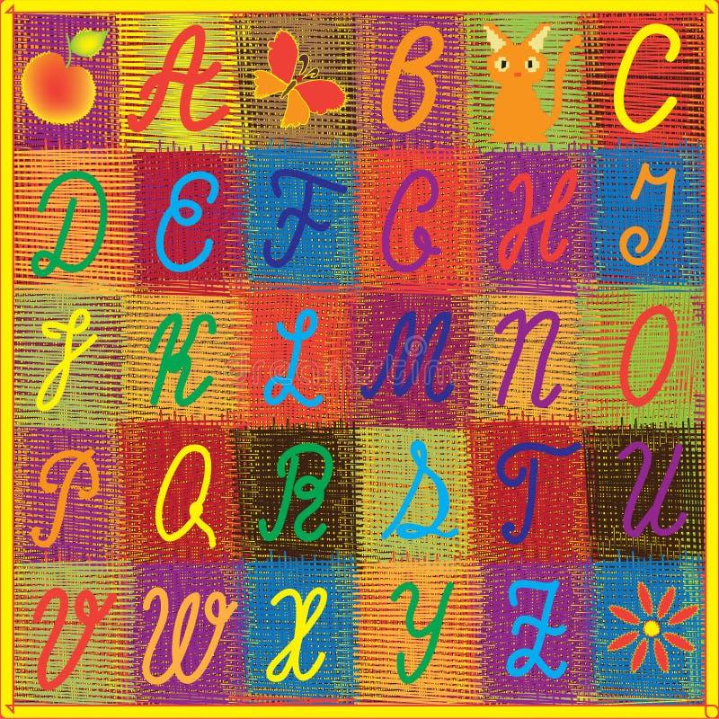 字母表儿童英语彩虹 皇族释放例证
