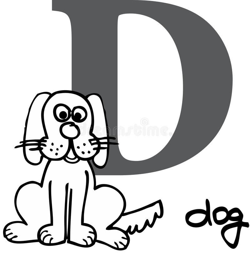 字母表动物d狗 库存例证