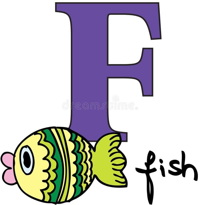 字母表动物f鱼 向量例证