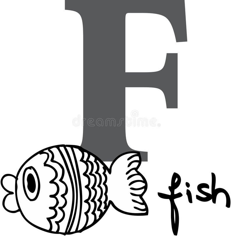 字母表动物f鱼 皇族释放例证
