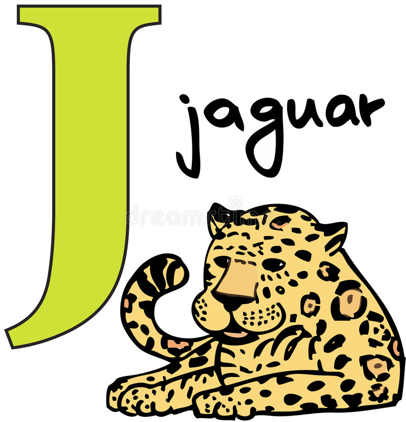 字母表动物j捷豹汽车 皇族释放例证