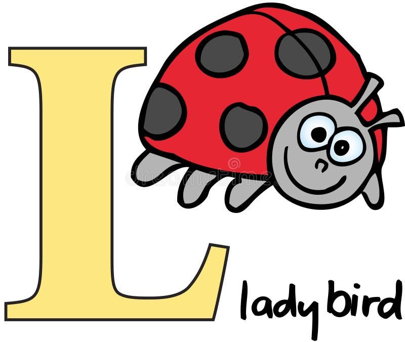 字母表动物l瓢虫 皇族释放例证