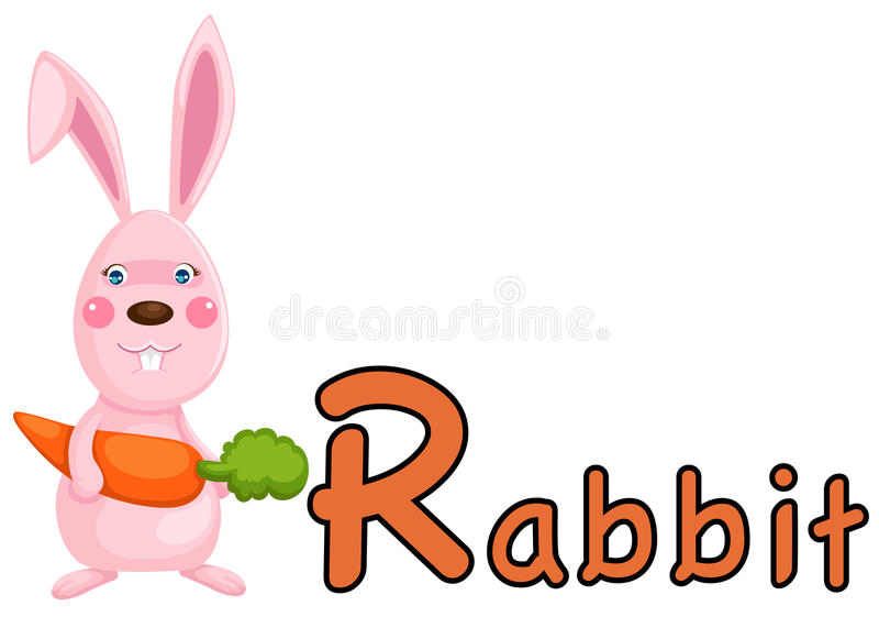 字母表动物r兔子 向量例证