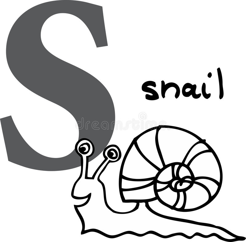 字母表动物s蜗牛 向量例证