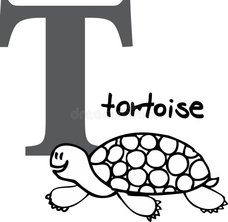 字母表动物t草龟 向量例证
