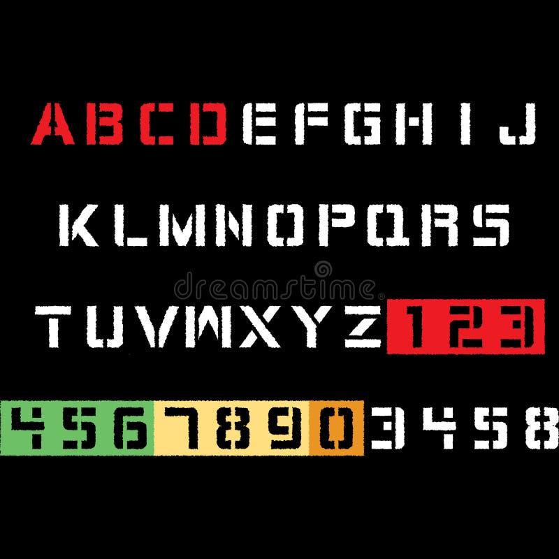 字母表印刷术发球区域设计 库存照片