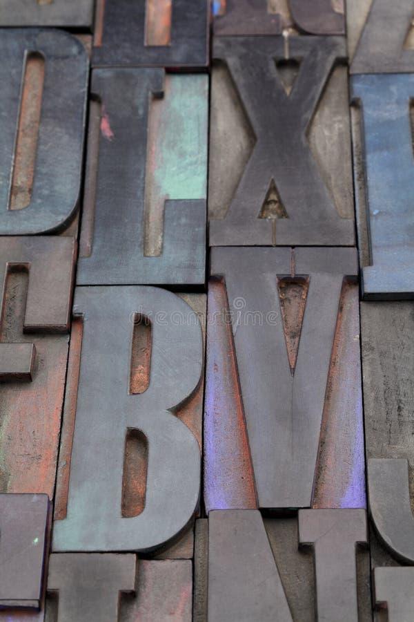 字母表古色古香的信函 库存图片