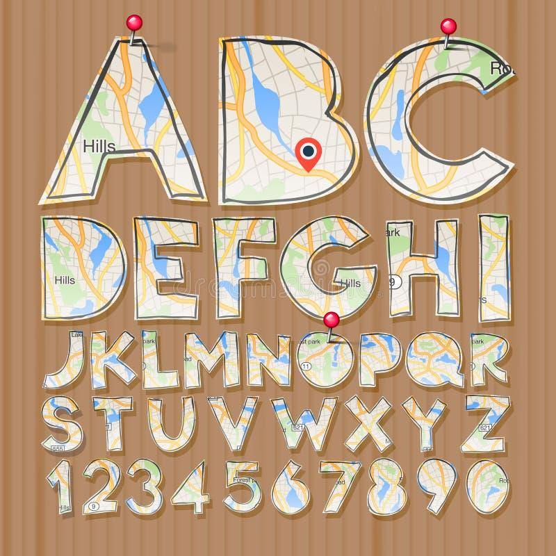 字母表和数字,纸工艺设计,删去了 皇族释放例证