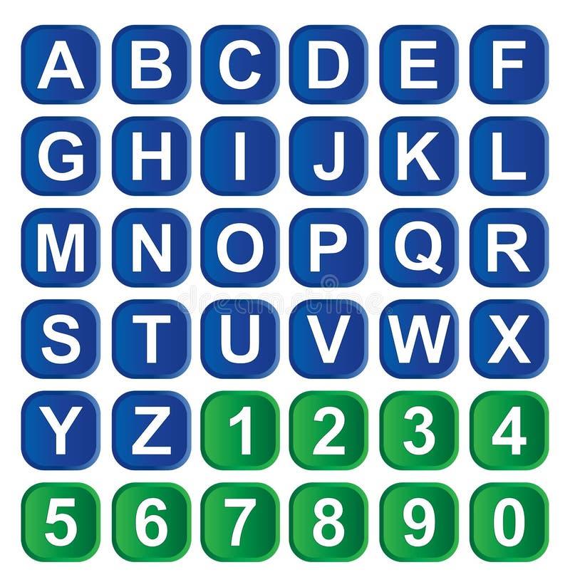 字母表图标 向量例证