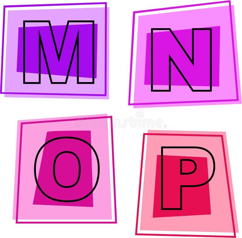 字母表图标 库存例证