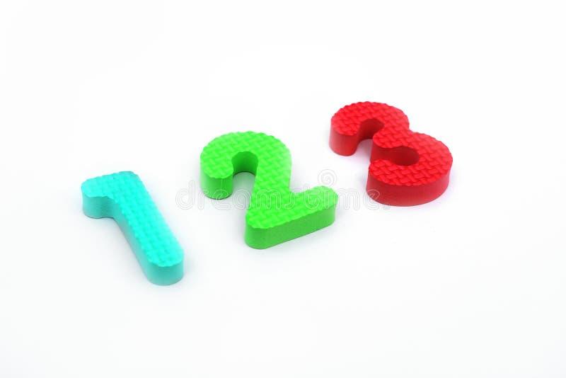 字母表块的图片在123个数字的 图库摄影
