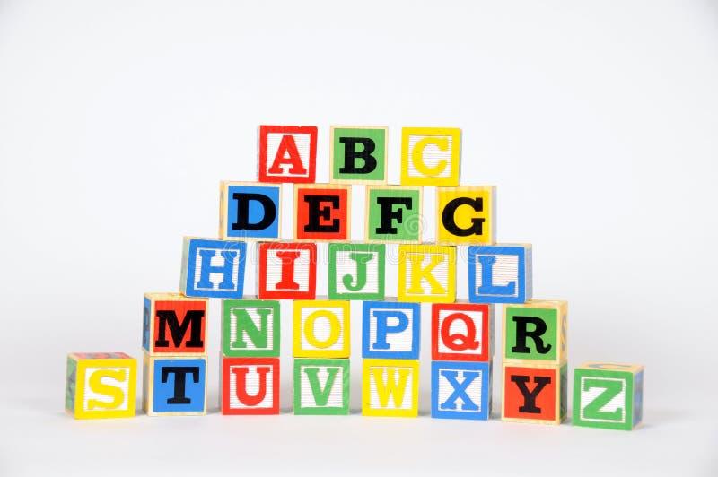 字母表块 库存照片