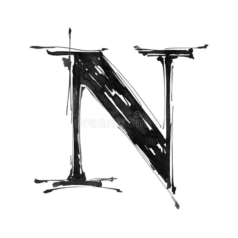 字母表字母N符号 皇族释放例证