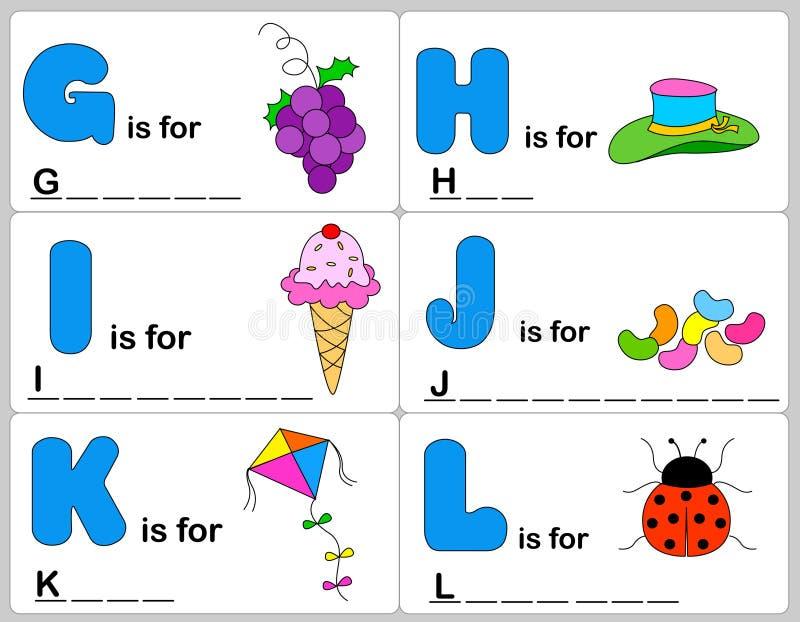 字母表字 库存例证