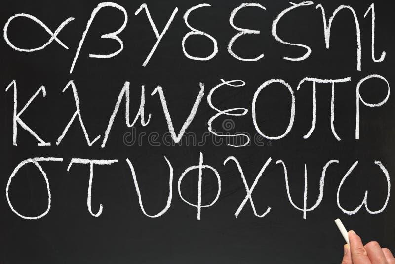 字母表希腊 库存图片