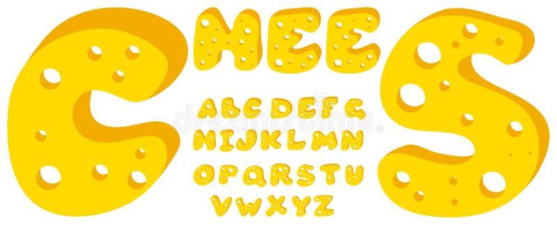 字母表干酪 向量例证