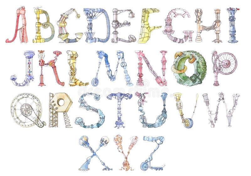 字母表机器人 向量例证