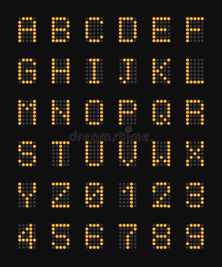 字母表机场板现实构成 向量例证