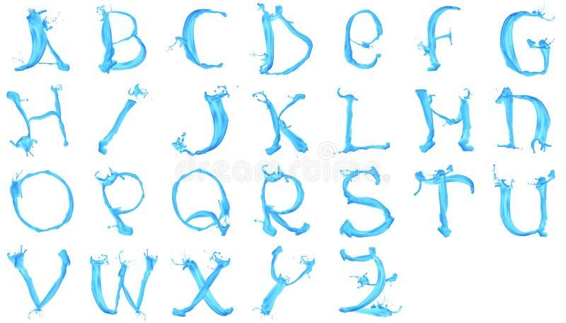 字母表水色 库存例证