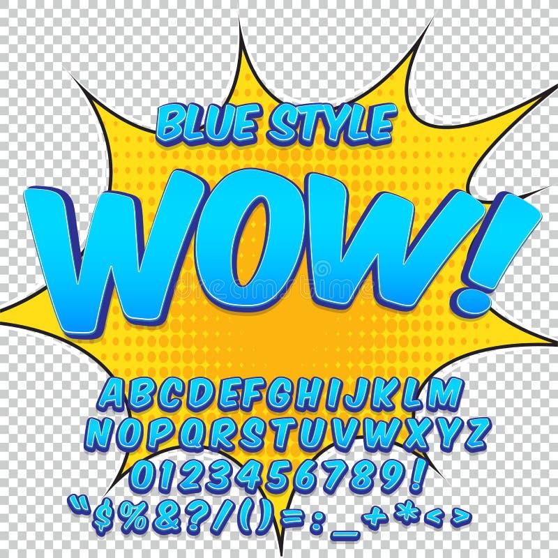 字母表汇集集合 可笑的流行艺术样式 信件、数字和图kids&的x27;例证,书 皇族释放例证