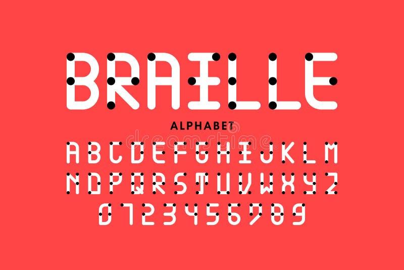 字母表盲人识字系统 库存例证