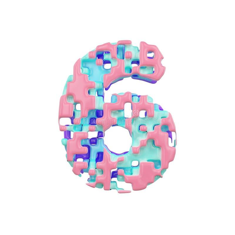 字母表第6 几何字体由立方体块做成 3d在空白背景回报查出 皇族释放例证