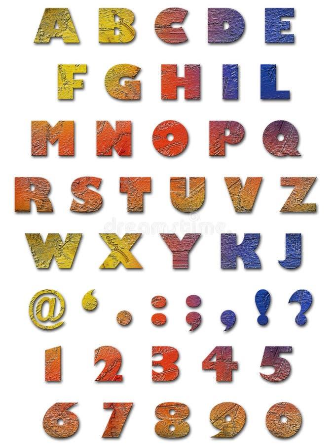 字母表纹理墙壁 免版税库存照片
