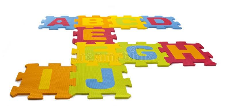 字母表编结难题 库存图片