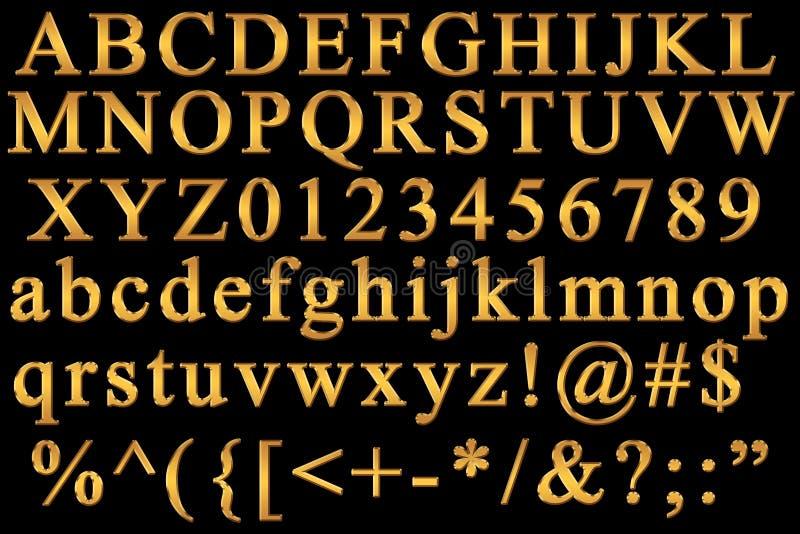 字母表英语 向量例证