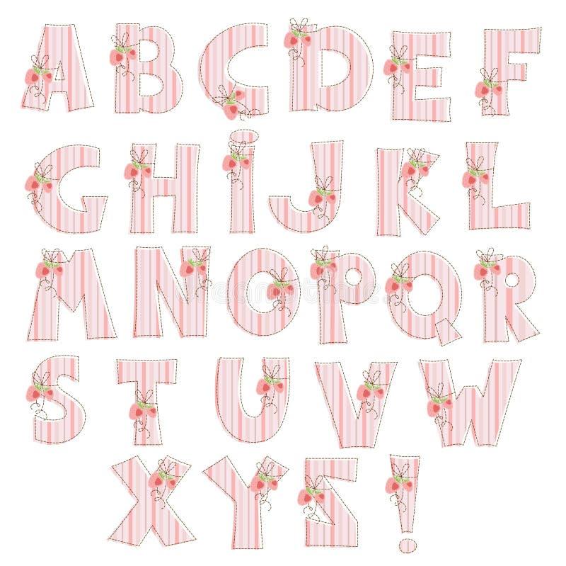 字母表草莓 库存例证