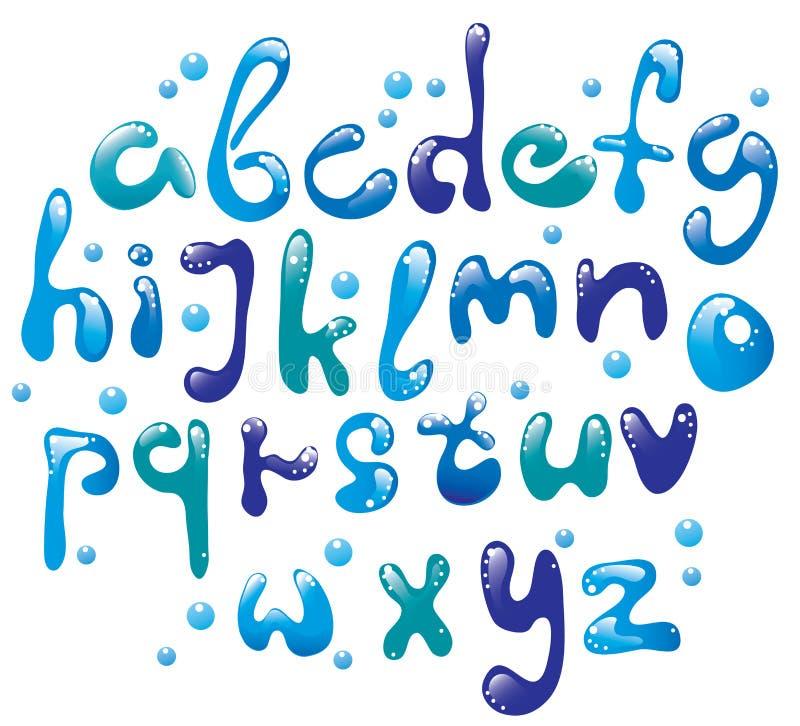 字母表蓝色逗人喜爱光滑 库存例证