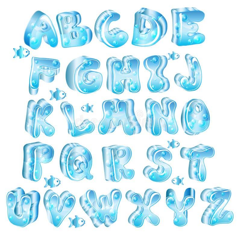 字母表蓝色逗人喜爱光滑 皇族释放例证