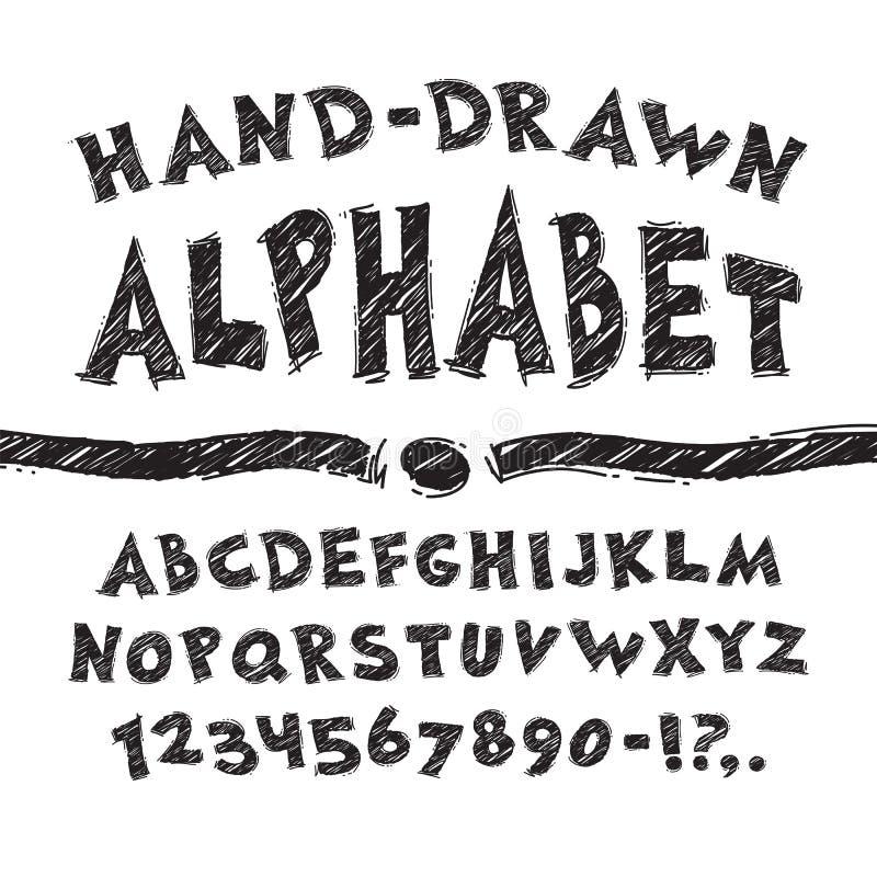 字母表被画的现有量 库存例证