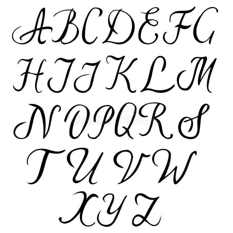 字母表被画的现有量 皇族释放例证