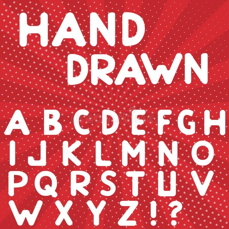 字母表被画的现有量 向量例证