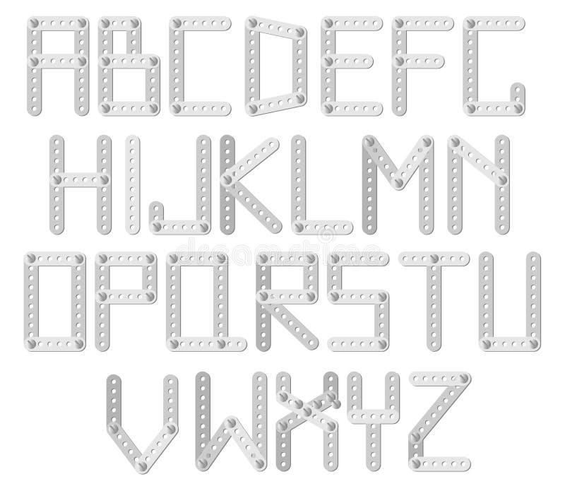 字母表设计员金属 皇族释放例证