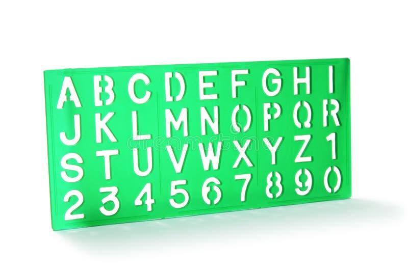 字母表钢板蜡纸 库存照片